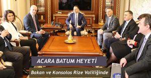 Acara Sağlık Bakanı ve Batum Konsolosu Rize'de