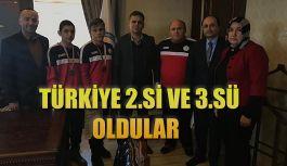Türkiye ikincisi ve üçüncüsü oldular.