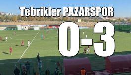 Tebrikler PAZARSPOR; Deplasmandan 3 gol,3...