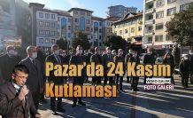 Pazar'da 24 Kasım Öğretmenler günü kutlandı