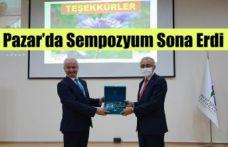Pazar'da Sempozyum Sona Erdi