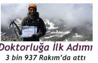 Diplomasını Kaçkar Dağı Zirvesinde Aldı