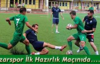 Pazarspor İlk Hazırlık Maçını Arhavi'de yaptı