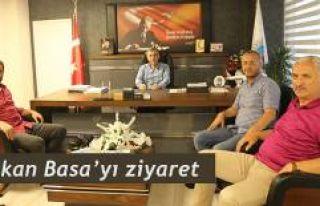 Karaca ve Güdü'den Başkan Basa'ya ziyaret