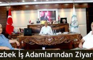 ÖZBEKİSTAN İŞ ADAMIN'DAN  TSO'YA ZİYARET