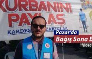 Rize-Pazar'da Kurban Bağışı sona erdi