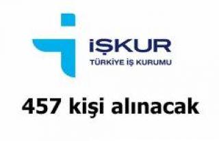 457 KİŞİ İŞE ALINACAK