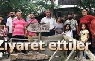 BEDENSEL ENGELLİLER DERNEĞİNDEN BAŞKAN AKÇİÇEK'E...