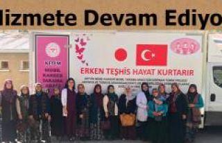 GEZİCİ KANSER TARAMA ARACI HİZMET VERMEYE DEVAM...