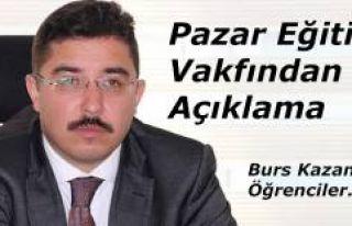 PAZAR EĞİTİM VAKFINDAN BURS ALACAK ÖĞRENCİLER...