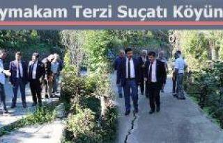 Pazar Kaymakamı Terzi Suçatı Köyünü ziyaret...