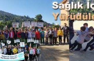 """Rize'de """"Sağlıklı Yaşam Yürüyüşü"""" etkinlikleri"""