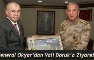 TUĞGENERAL OKYAR'DAN VALİ DORUK'A ZİYARET