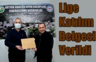 LİGE KATILIM BELGELERİNİ TESLİM ETTİ