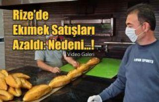 Rize'de Ekmek satışları azaldı