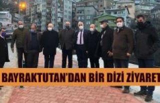 BAYRAKTUTAN ARTVİN'DE BİR DİZİ ZİYARETTE BULUNDU