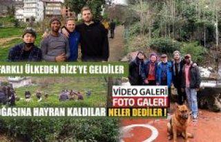 Dört Farklı Ülkeden tanıtım Filmi için Rize'ye...