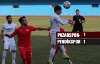 Pazarspor-Pendikspor 1-1