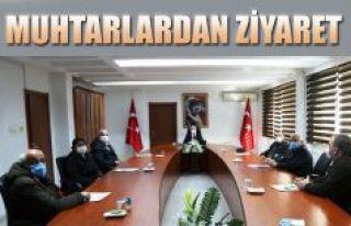 MUHTARLARDAN VALİ DORUK'A ZİYARET