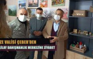 Vali Çeber,Yeşilay Danışmanlık Merkezi'ni ziyaret...