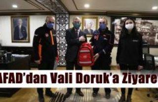 AFAD'DAN VALİ DORUK'A ZİYARET