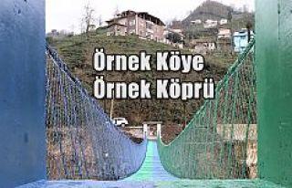 ÖRNEK KÖY'E ÖRNEK ASMA KÖPRÜ YEŞİL MAVİ...
