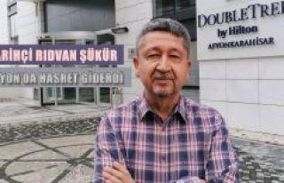 Tarihçi Rıdvan Şükür, Afyon'da dostlarıyla...