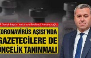 Yardımcıoğlu: Koronavirüs Aşısı'nda Gazetecilere...