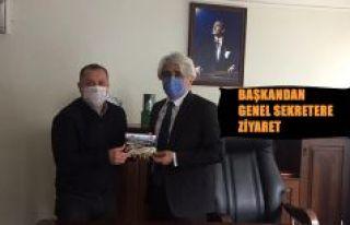 BAŞKAN YILMAZ'DAN İL ÖZEL İDARESİ GENEL SEKRETERİ...