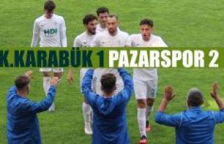 Pazarspor Karabük'ten 3 Puanla Dönüyor