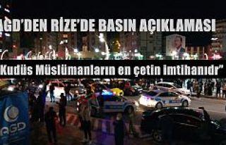 AGD'DEN RİZE'DE İSRAİL SALDIRILARINA...