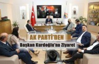 AK PARTİ İLÇE TEŞKİLATINDAN BAŞKAN KURDOĞLU'NA...