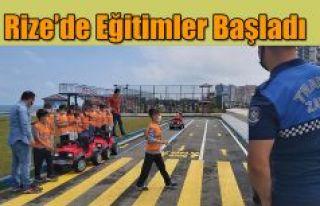 Çocuk Trafik Eğitim Parkında Eğitimler Başladı