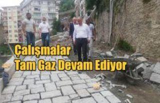 RİZE KALESİ'NİN YAYA YOLUNDA İKİNCİ ETAP YENİLEME...