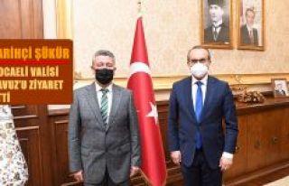 Tarihçi Rıdvan Şükür, Kocaeli valisini ziyaret...