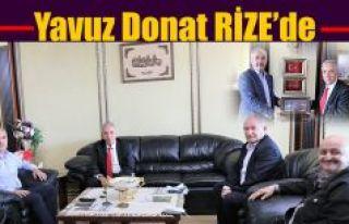 USTA YAZAR YAVUZ DONAT'DAN BAŞKAN METİN'E ZİYARET