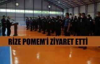 Vali Kemal Çeber'den Rize POMEM'i Ziyaret...