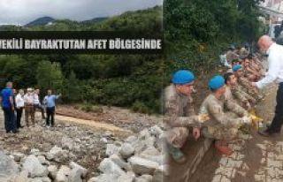 BAYRAKTUTAN:Arhavi ve Borçka'da meydana gelen afetleri...