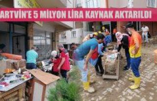 Sel felaketinden etkilenen Artvin'e 5 milyon...