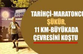 Tarihçi Rıdvan Şükür, Büyükada gece koşusuna...