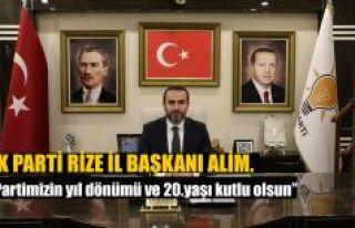İl Başkanı Alim'den AK Parti'nin 20. Kuruluş...