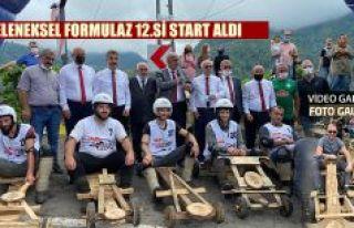Karadeniz'in gelenekselleşen tahta araba mücadelesi...