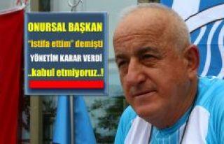 Onursal Başkan Hüseyin Yangın'ın İstifası...