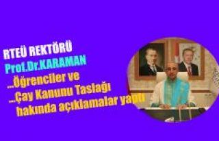 Rektör Karaman'dan canlı yayında açıklamalar