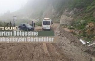 Turizm Bölgesi Çamlıhemşin'e yakışmayan görüntüler.
