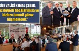 """Vali Çeber """"Kardeşlik Köprüsü"""" Programına..."""