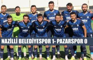 Pazarspor, Nazilli Belediyespor'a 1-0 mağlup...