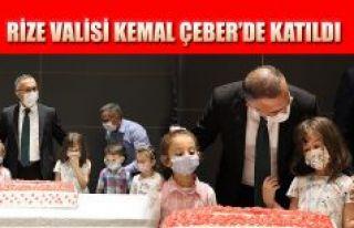 Rize Valisi Çeber'de, açılış programını...