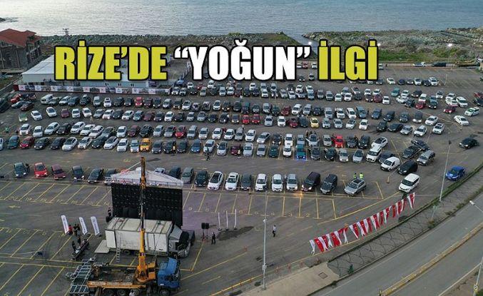 """RİZE BELEDİYESİ'NDEN İKİNCİ """"ARABALI SİNEMA"""" ETKİNLİĞİ"""