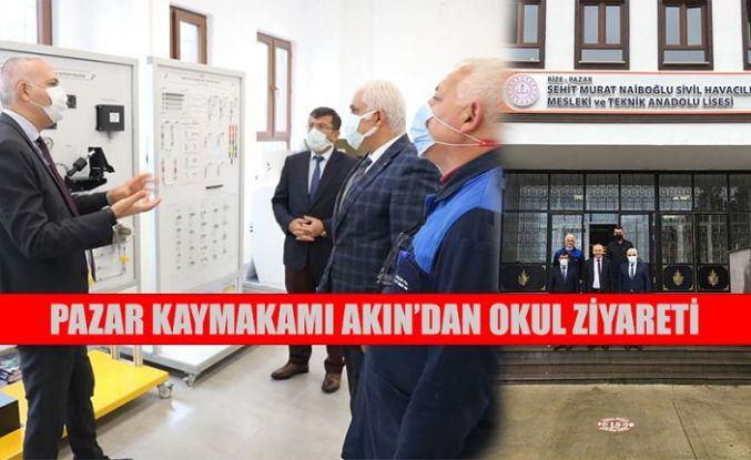Kaymakam Akın'da Okul Ziyareti